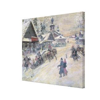 A Festive Walk, Russia Canvas Print