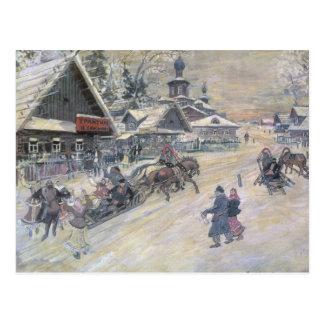 A Festive Walk, Russia Postcard