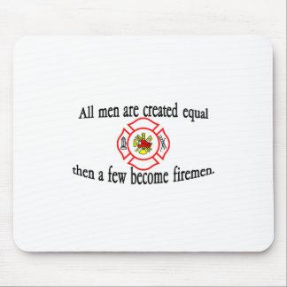 A few firemen mouse pad