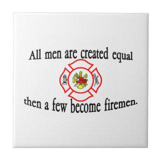 A few firemen small square tile