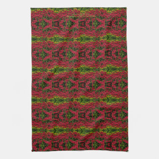 A Field of Red Bee Balm kitchen towel