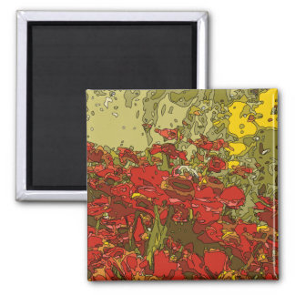 A Field of Red Poppies Refrigerator Magnet