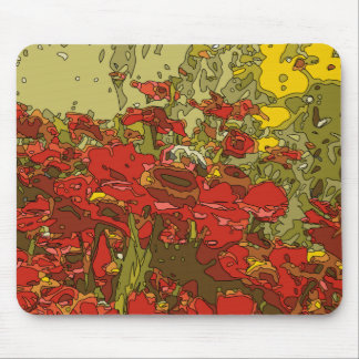 A Field of Red Poppies Mousepads