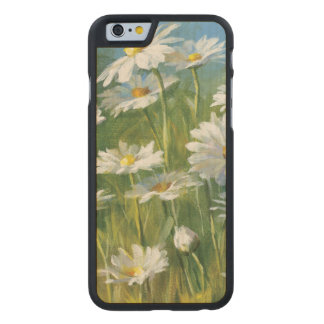 A Field of White Daisies Carved Maple iPhone 6 Case