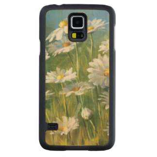 A Field of White Daisies Maple Galaxy S5 Case