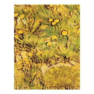 A field of Yellow Flowers,  Vincent van Gogh. 21.5 Cm X 28 Cm Flyer