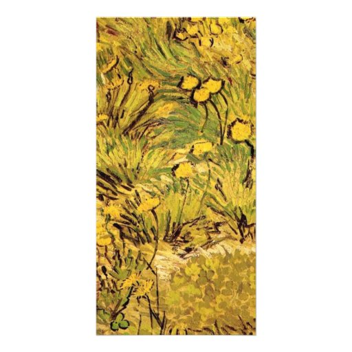 A field of Yellow Flowers,  Vincent van Gogh. Customized Photo Card