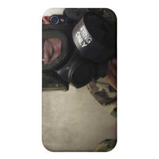 A field radio operator clears CS gas iPhone 4 Case