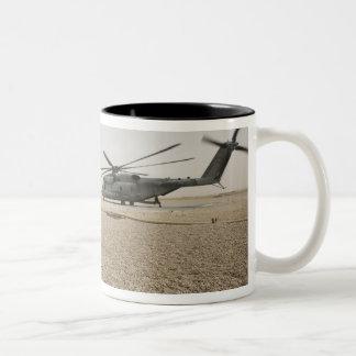 A field radio operator Two-Tone coffee mug