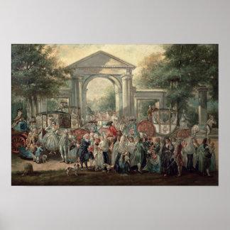 A Fiesta in a Botanical Garden, 1775 Poster
