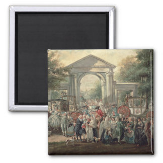 A Fiesta in a Botanical Garden, 1775 Square Magnet