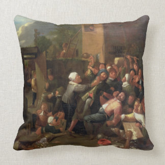 A Fight Outside a Tavern Pillow