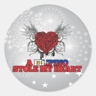 A Filipino Stole my Heart Sticker