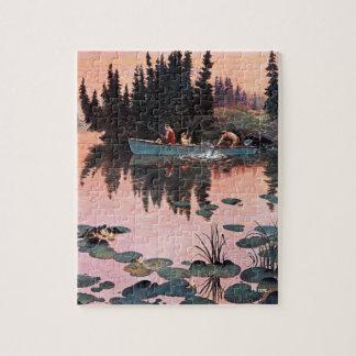 A Fine Catch by John Clymer Jigsaw Puzzle