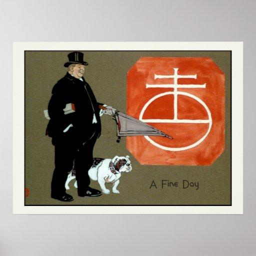 A Fine Day Vintage Dog Poster