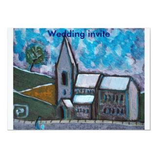 A fine old church wedding invite 13 cm x 18 cm invitation card