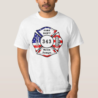 A Firefighter 9/11 Never Forget 343 T-Shirt