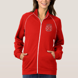 A Firefighters Wife Maltese Heart Printed Jackets