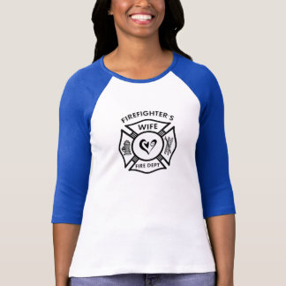 A Firefighters Wife Maltese Heart T-Shirt