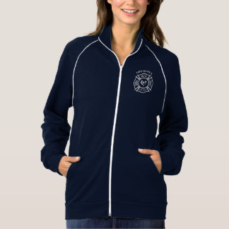 A Firefighters Wife Maltese Heart Track Jackets