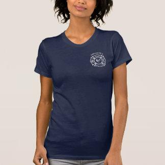 A Firefighters Wife Maltese Heart Tshirt