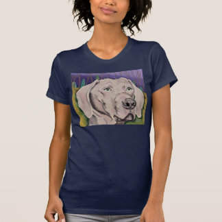 A First Ghost of Dawn womens petite tee  navy