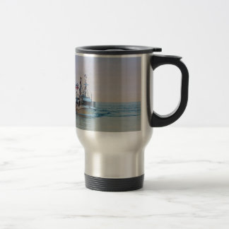 A fishing boat on the Baltic Sea Stainless Steel Travel Mug