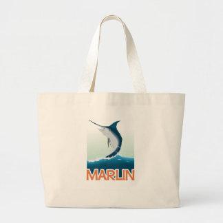 A fishing gift from sea: Shiny marlin Jumbo Tote Bag
