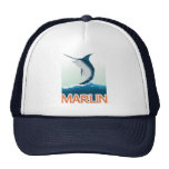 A fishing gift from sea: Shiny marlin Trucker Hat