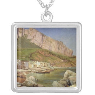 A Fishing Village at Capri Silver Plated Necklace