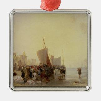 A Fishmarket Near Boulogne, c.1824 (oil on canvas) Christmas Ornament