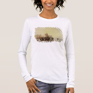 A Fishmarket Near Boulogne, c.1824 (oil on canvas) Long Sleeve T-Shirt