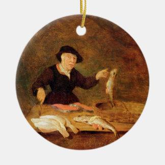 A Fishmonger, c.1667 (oil on panel) Christmas Ornament