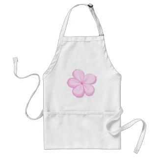 A five-petal pink flower apron