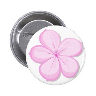 A five-petal pink flower button