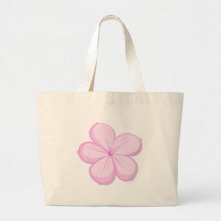A five-petal pink flower bag
