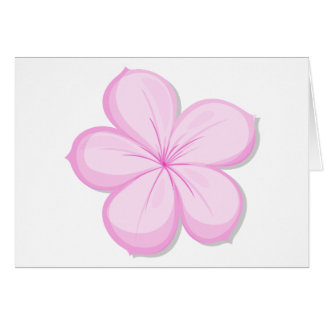 A five-petal pink flower cards