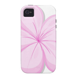 A five-petal pink flower vibe iPhone 4 cover
