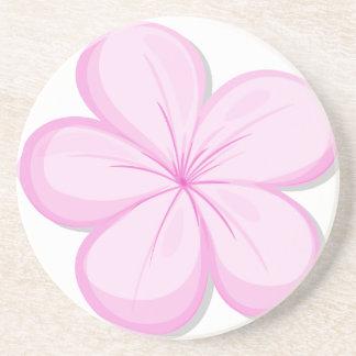 A five-petal pink flower drink coaster
