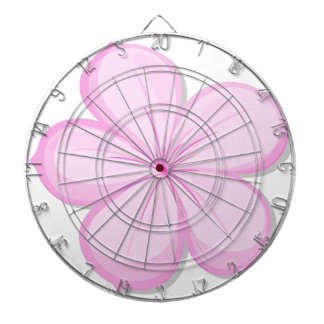 A five-petal pink flower dart board