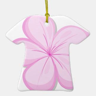 A five-petal pink flower ornaments