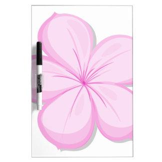 A five-petal pink flower dry erase boards