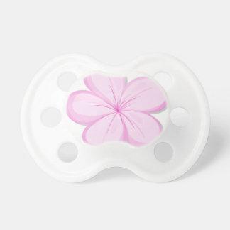 A five-petal pink flower pacifier