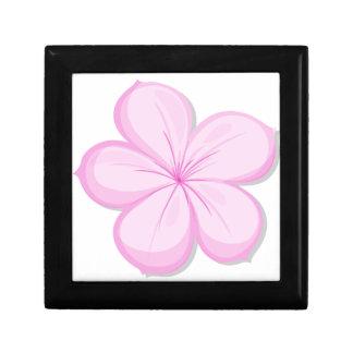 A five-petal pink flower gift box