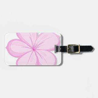 A five-petal pink flower luggage tag
