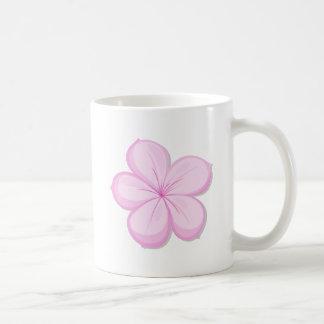 A five-petal pink flower coffee mug