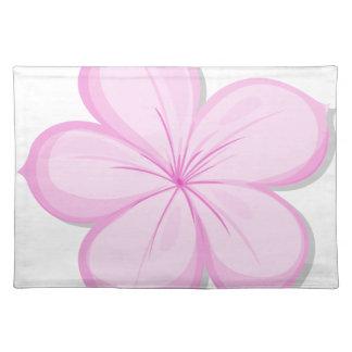 A five-petal pink flower cloth placemat