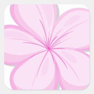 A five-petal pink flower sticker