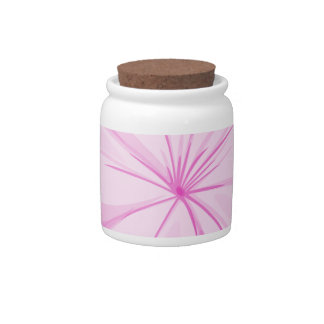 A five-petal pink flower candy jars