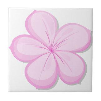 A five-petal pink flower ceramic tile